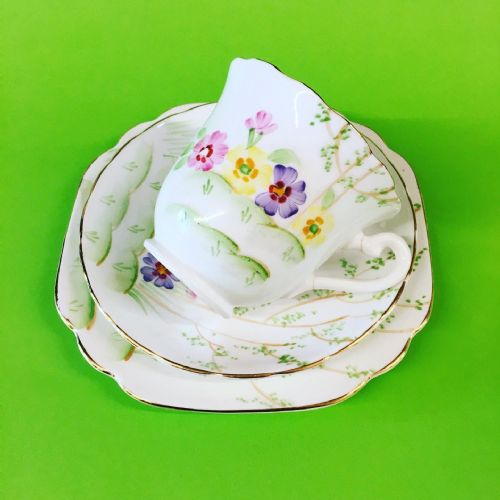 Rosina China | Hand Painted Trio | Collector | 1940s
